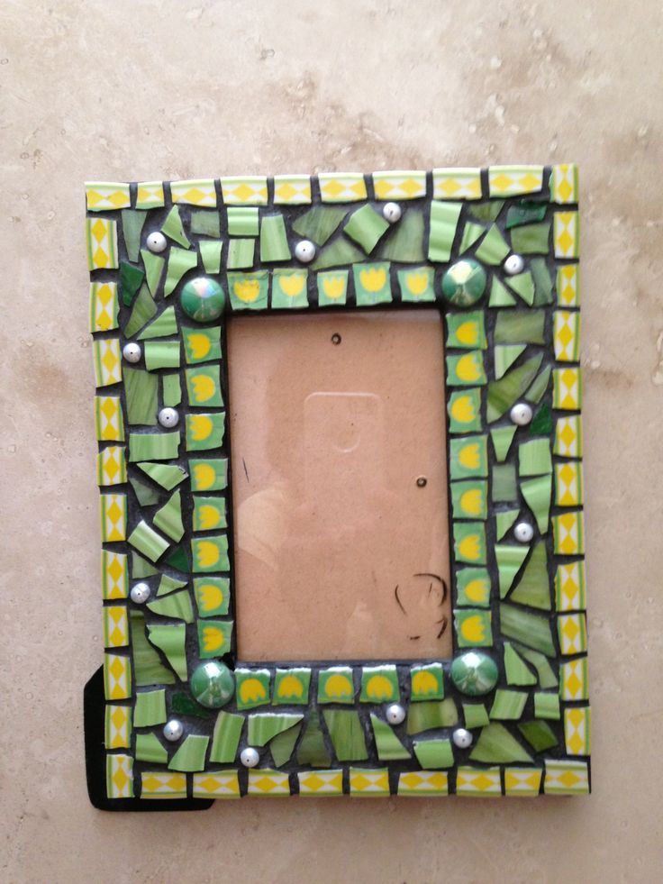 Very Pretty Mosaic Jeweled Picture Frame Crafts T