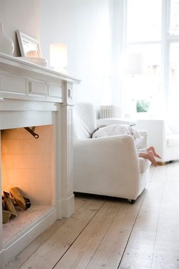 repeindre la cheminée en blanc ?