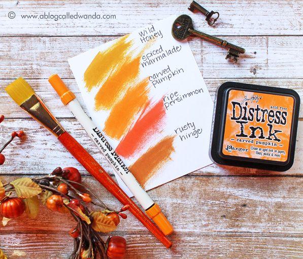 Weekender with Wanda Tim Holtz Distress Ink Color Pop! Carved Pumpkin!