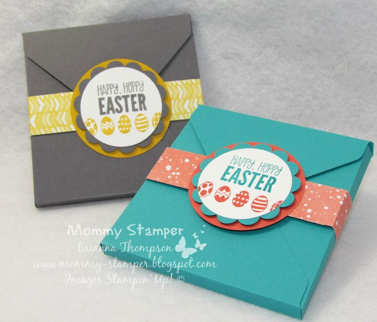 Envelope Punch Board Easter Box