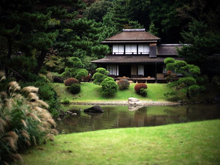 Traditional japanese house and garden