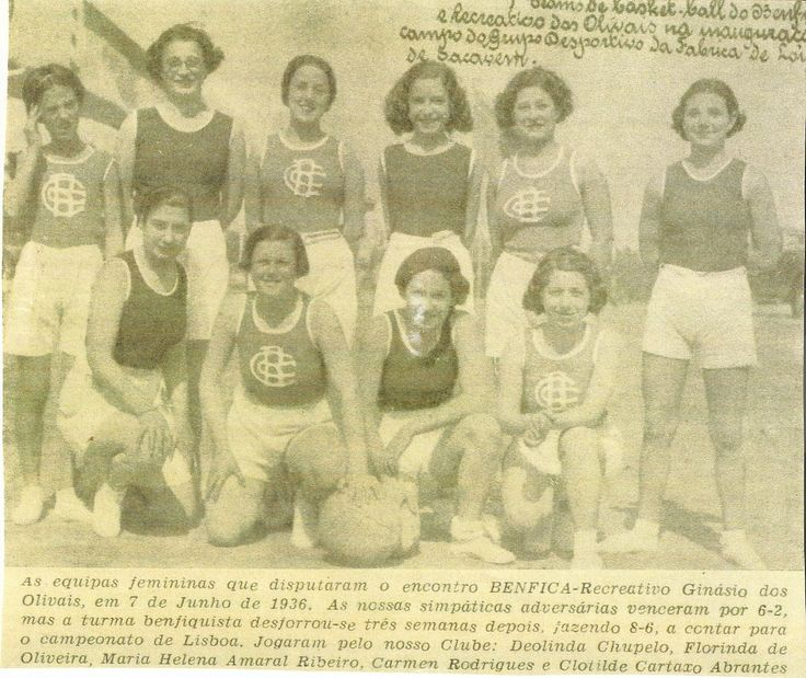 Benfica - R. Ginásio, Basquetebol feminino, 1936