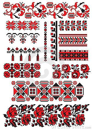 Ukrainian embroidery pack by Boordon, via Dreamstime