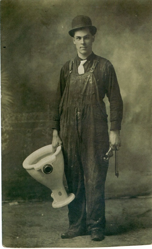 Old fashioned plumber