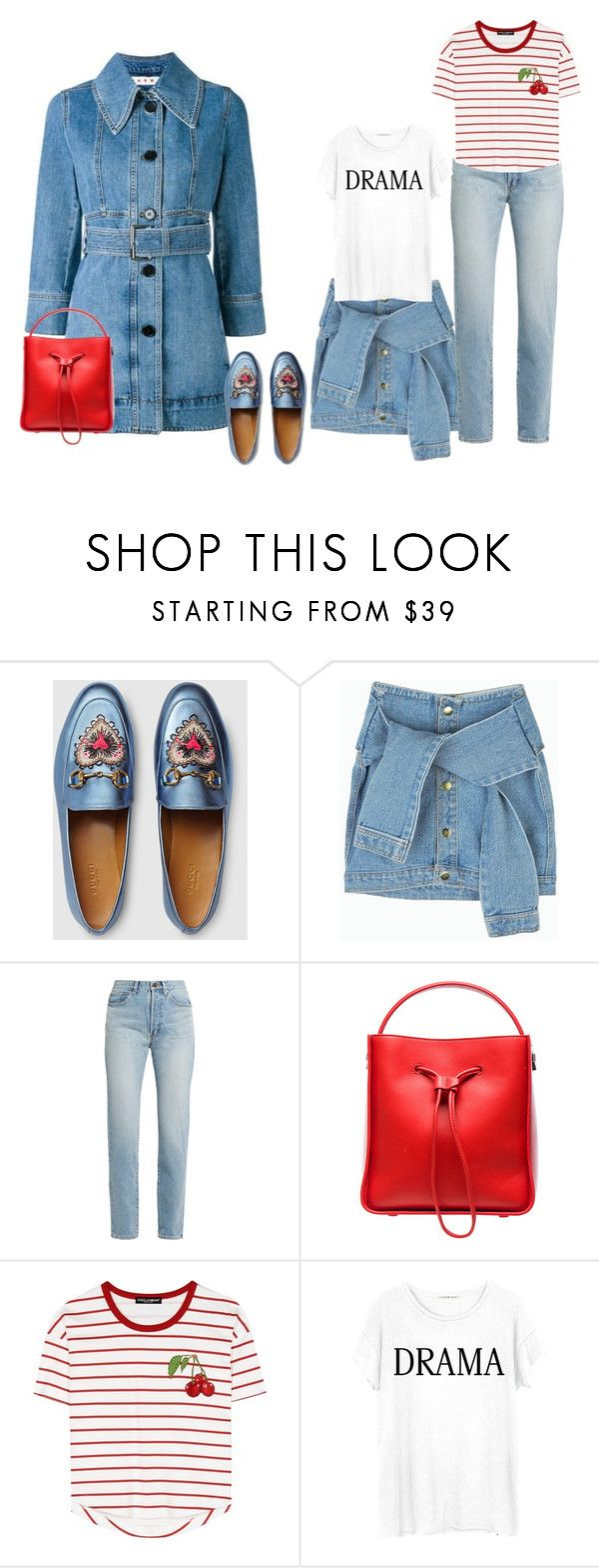 """conley_esperanzaj-brownshuga"" by conley-esperanzaj1957 on Polyvore featuring Marni, Gucci, Yves Saint Laurent, 3.1 Phillip Lim, Dolce&Gabbana and Junk Food Clothing"
