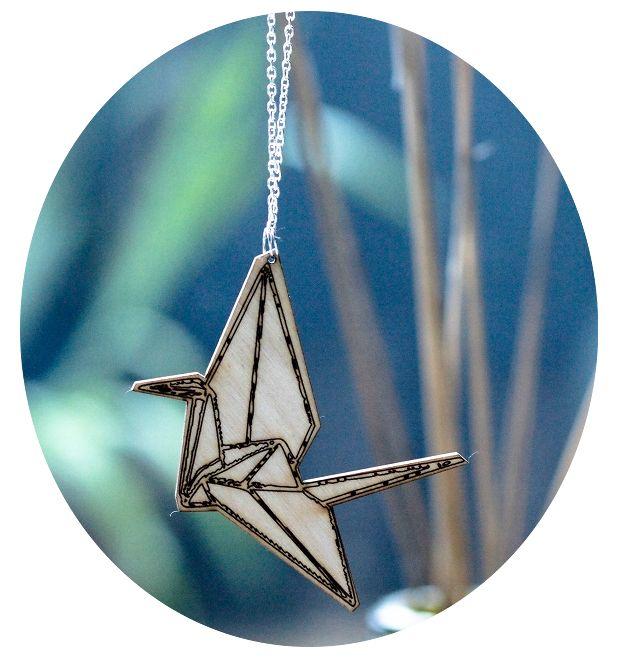 Image of Origami Bird necklace
