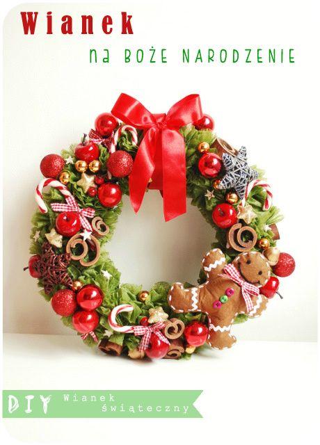 It's so easy DIY blog: DIY - Dekoracje Świąteczne - wianek świąteczny