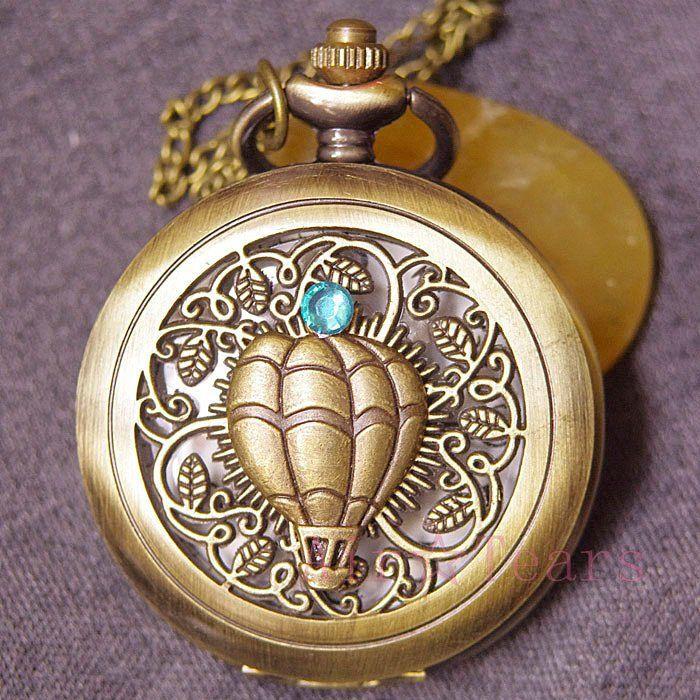 Купить товарКварцевый унисекс Relojes wholesal продажи викторианской воздушный баллон карманные часы ожерелье цепь D049 в категории Карманные часы и брелокина AliExpress.  Оригинальная ручная карманные часы. Прячась за веб-ретро филигрань является полностью функционирования кварцевые часы.