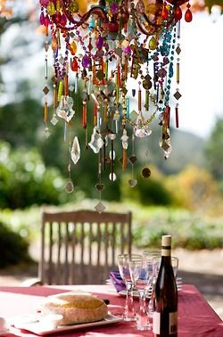 Must make one of these to hang in the garden will be beautiful with the light shining through it :)