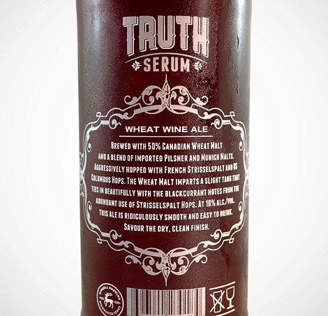 Russell Brewing Truth Serum Label by Atmosphere Design