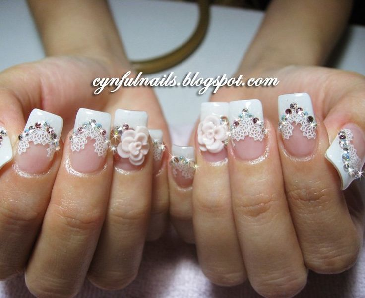 bridal nails art