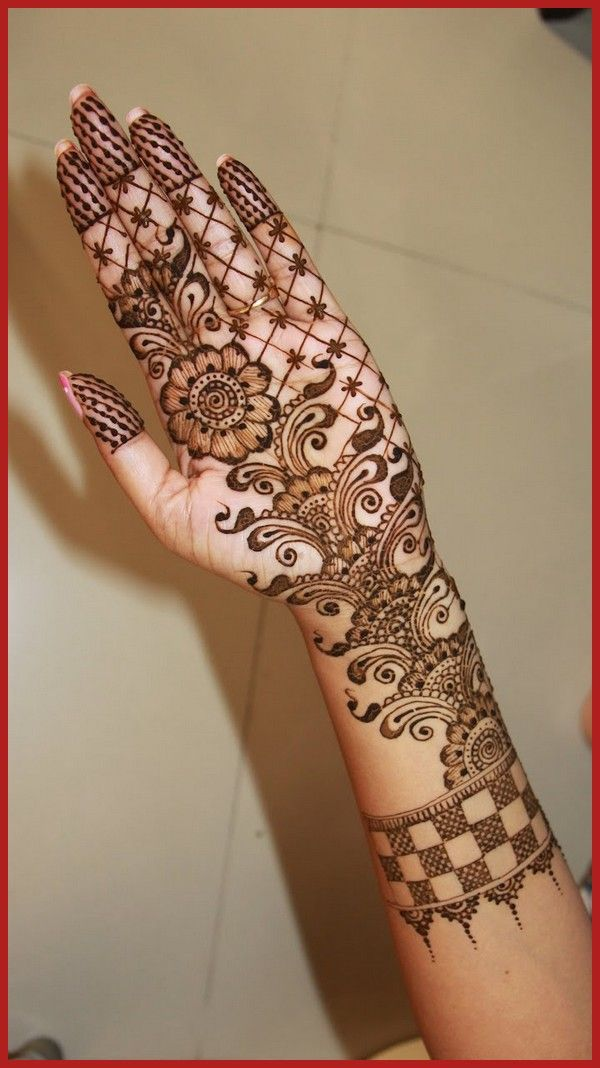 Stylish Arabic Mehandi Henna Designs