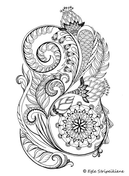 free coloring pages horticulture | 234 best Coloring for adults images on Pinterest ...