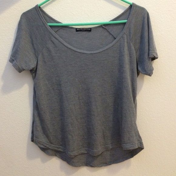 Gray Brandy Melville Top Grey/gray Brandy Melville Jennah? top. Super cute and soft top in good condition✨ Brandy Melville Tops Crop Tops