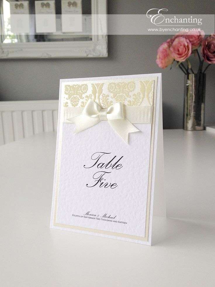 wedding stationery packages uk%0A Gorgeous ivory flock wedding stationery from the Anna Collection for Monica   u     Michael including table plan  table name card and place cards
