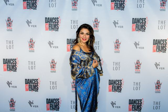 Kaliopi Eleni does SILK DREAMS Solaris Universe of Stars at red carpet event Chinese Theatre, Hollywood, awards night Best Film and Industry Choice Award, Australian Film, One Less God, featuring Kaliopi Eleni. Dances with Films festival, Hollywood 2017.