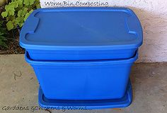 composting worms how to, composting, go green, My easy to make earthworm composting bin Using two Rubbermaid tubs.