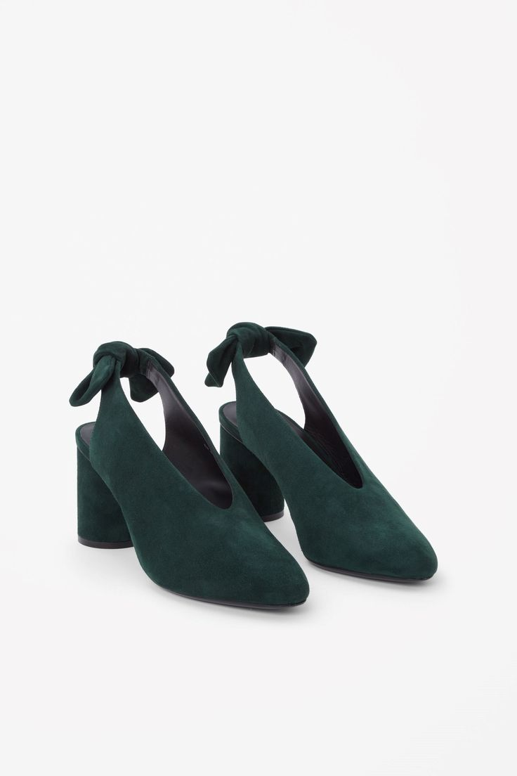 COS image 2 of Slingback bow pumps in Forest Green