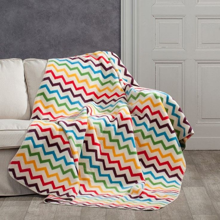 Koc Cotton Cloud 150x200cm Rainbow, 150x200cm - Dekoria