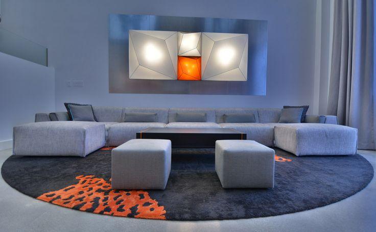 Our #sofa Parker, #design Alessandro Elli, in a special version in a prestigious apartment.