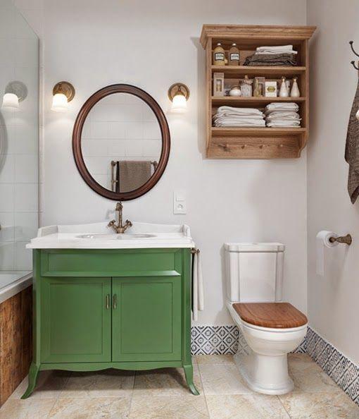 1000 ideas sobre peque os cuartos de ba os r sticos en for Piso rustico moderno