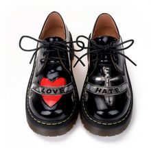 Новая женская обувь 2015 мода бренд уличной панк оксфорд обувь HARAJUKU платформа мартин женщин обувь из натуральной кожи(China (Mainland))