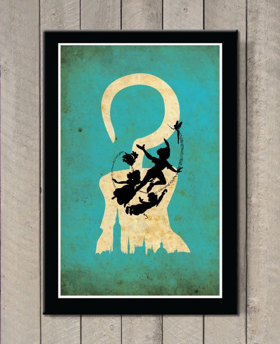 Peter Pan  Art Print / Poster par MINIMALISTPRINTS sur Etsy