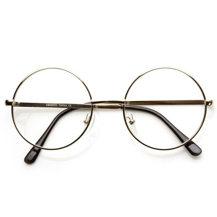 vintage lennon inspired clear lens round frame glasses 9222