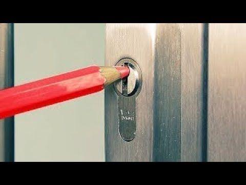 Anahtar Olmadan Kilitli Kapı Nasıl Açılır ? - 5 Süper Yöntem - YouTube