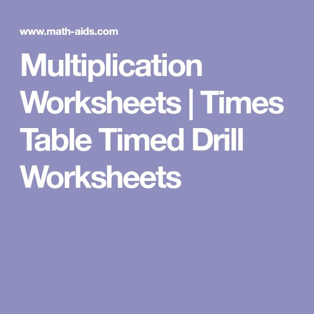 Best 25+ Multiplication times table ideas on Pinterest Maths - horizontal multiplication facts worksheets