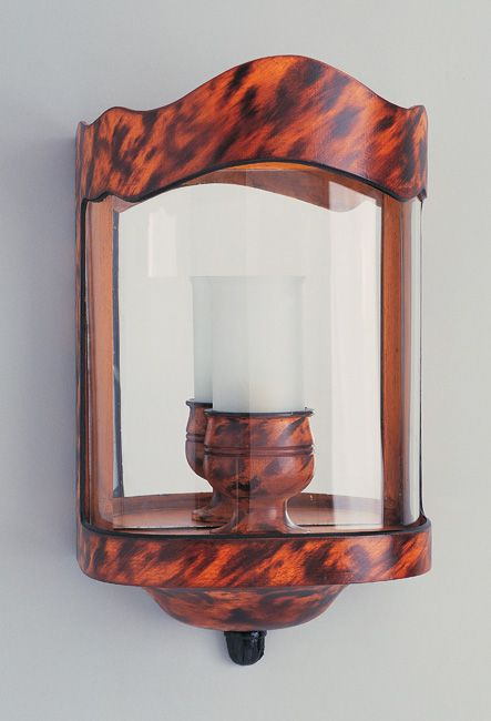 W4-050 - Bow Fronted Interior Wall Lantern, Tortoiseshell Finish