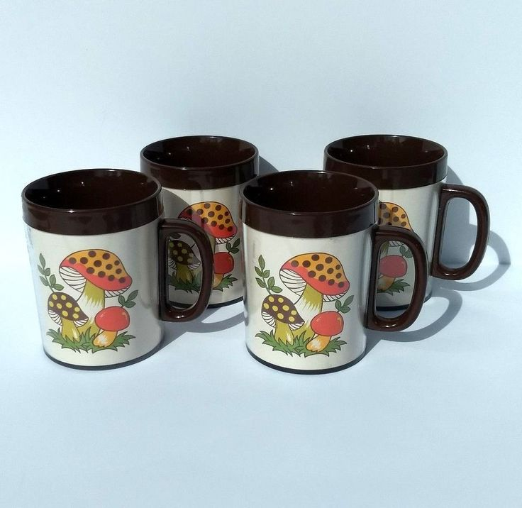 Vintage 1970s Sears Merry Mushroom Thermo Serv Insulated Plastic Mugs Cups Set | Collectibles, Vintage, Retro, Mid-Century, 1970s | eBay!