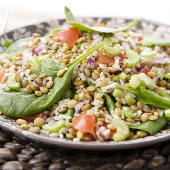 Salade met rijst en linzen #recept #menuvanmorgen #JumboSupermarkten
