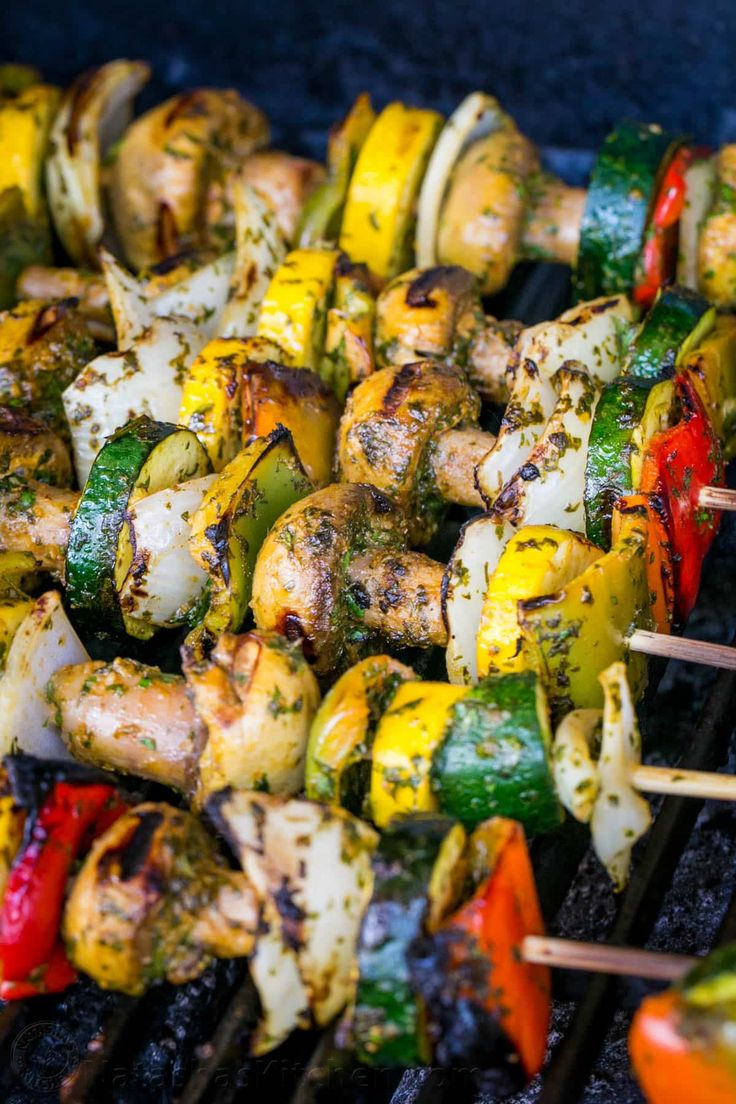 Pin and print this Moroccan Vegetable Skewers recipe then plaster it on your fridge; yep it's that good. These veggies are uber juicy and flavorful.