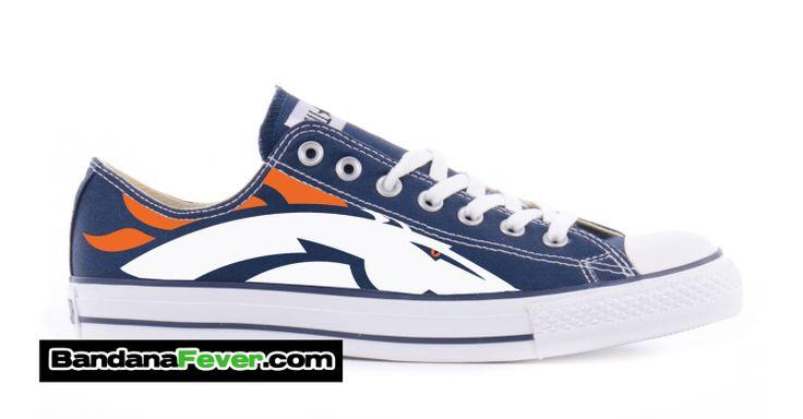 Converse Low Navy Denver Broncos  FREE by BandanaFeverShoes, $249.99