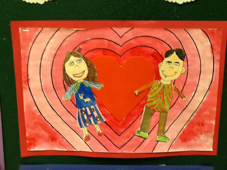 valentine art for grade 4