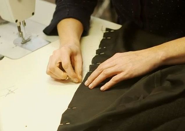 The draping + sewing of a Chanel Jacket