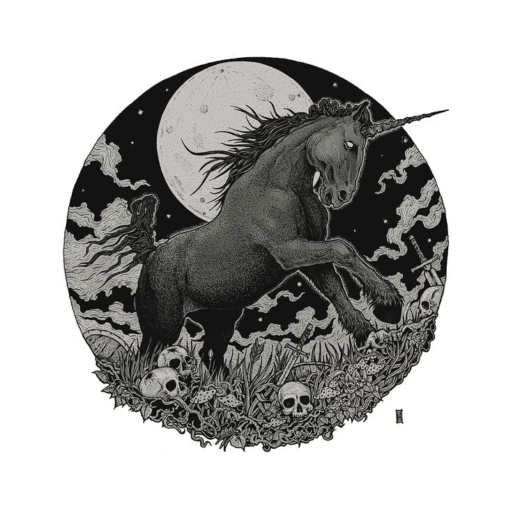"""""""Impaled Illusions"""" - is an A3 size lost dream. Pierced with Copic Multiliners SP(0.05, 0.1, 0.5, BS, BM), into a Canson Montval paper stolen from the misty marshes, haunted by the ghosts of dead warriors.   #unicorn #occult #illustration #artwork #manescumihai   https://www.facebook.com/manescuillustrations"""