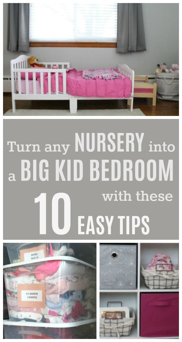 10 tips that will help you turn a nursery into a big kid bedroom, along with a printable planning worksheet to help you keep track of your ideas and form a plan for your new toddler room.