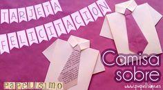 Felicitación/ Invitación Camisa con Corbata