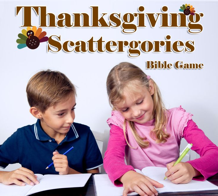 This Thanksgiving Bible game will help students expand their minds when it comes to thinking of what they're thankful for, and it will also help them practice some school skills, like thinking hard!