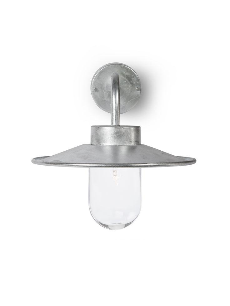 cox cox galvanised swan neck light light outside. Black Bedroom Furniture Sets. Home Design Ideas