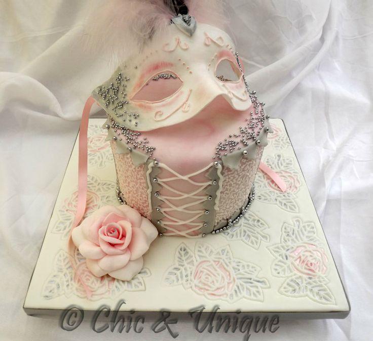 Masquerade-By ChicUniqueCakes@CakesDecor.com
