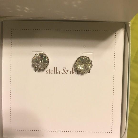 Stella and Dot earrings Silver stud earrings!! Stella & Dot Jewelry Earrings