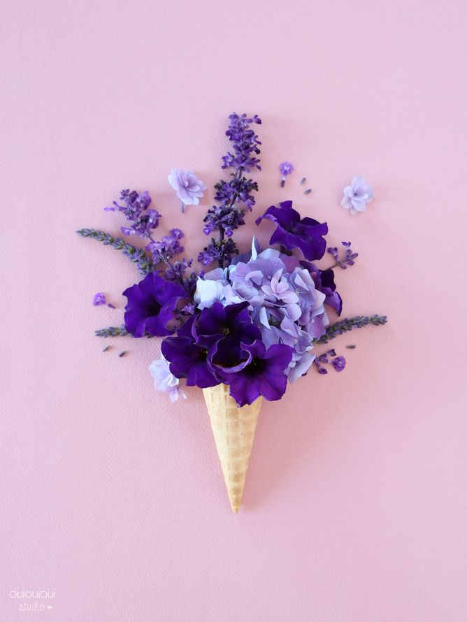 Ice cream and flowers? Yes, please.
