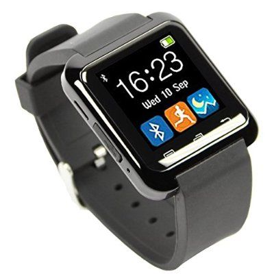 EasySMX Bluetooth 3.0 Multi-Language Smart Wrist Watch Smartwatch with Touch Screen Compatible with Android Smartphones Including iPhone, Samsung, HTC, Sony (Black)