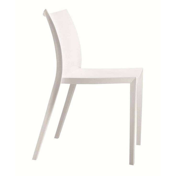 Square Dining Chair, White