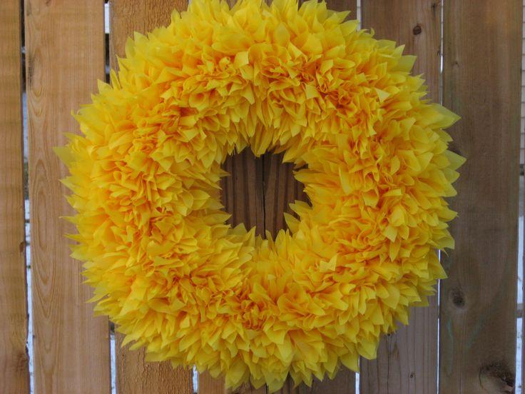 Summer Wreath - Fall Wreath - Yellow Wreath - Indoor Outdoor Wreath - Door…