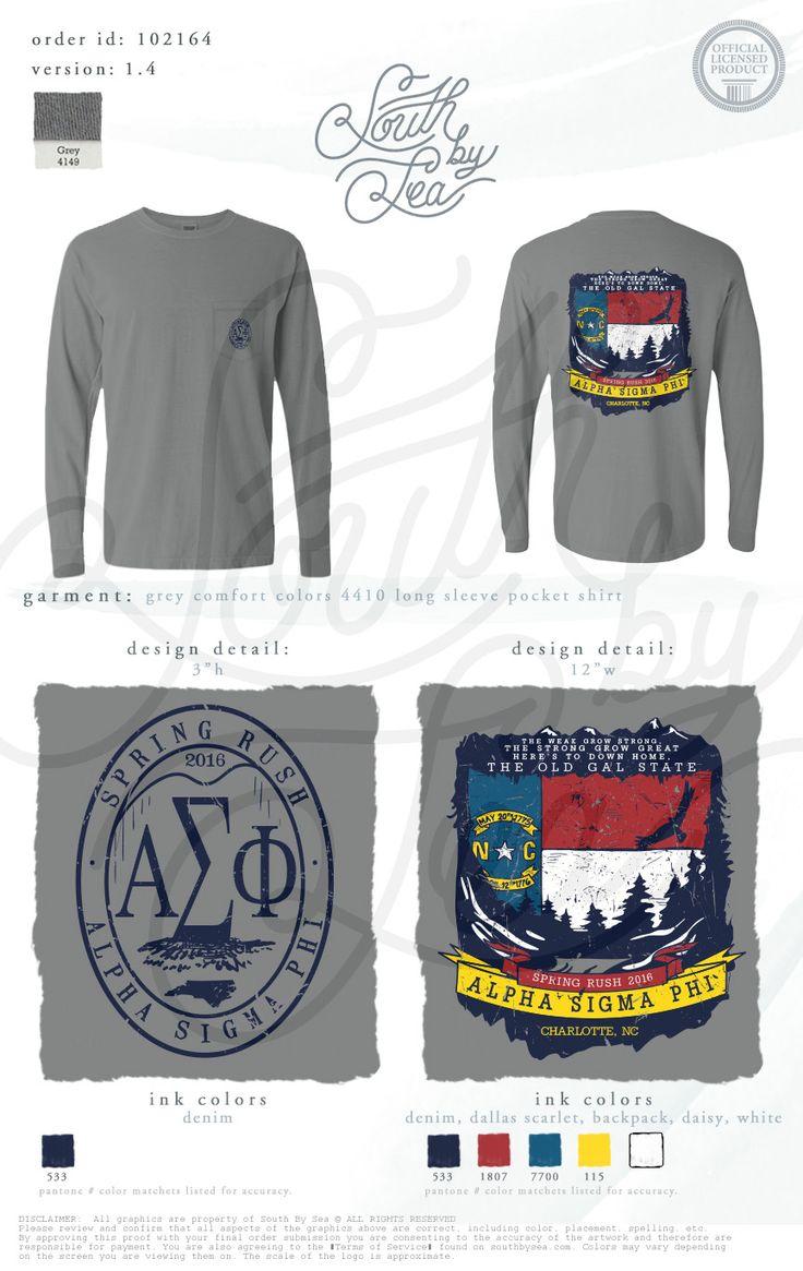 Alpha Sigma Phi | Spring Rush | Southern T-Shirt Design | South by Sea | Greek Tee Shirts | Greek Tank Tops | Custom Apparel Design | Custom Greek Apparel | Fraternity Tee Shirts | Fraternity Tanks | Fraternity Shirt Designs