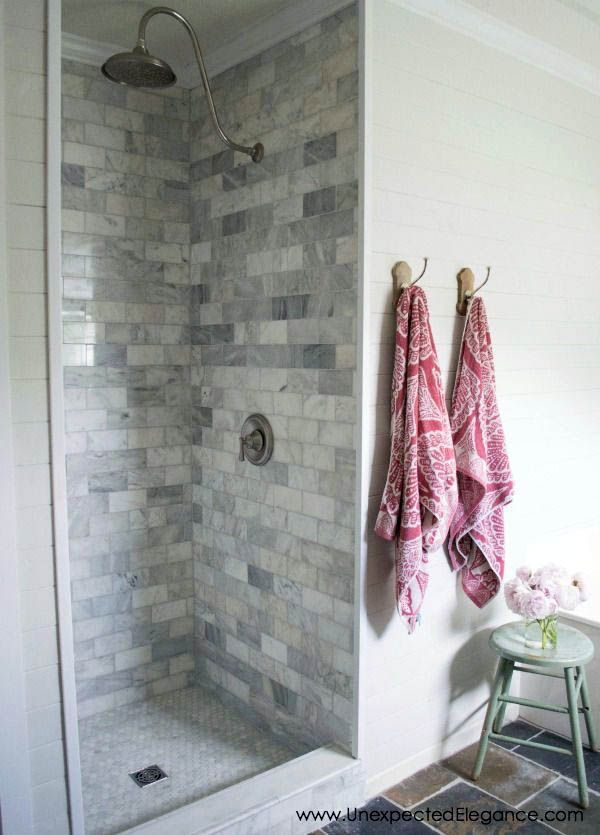 Recent 30 X 60 Tile Shower Ideas To Refresh Your Home Shower Renovation Shower Remodel Farmhouse Shower